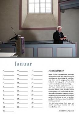 Kalender Alpenrod Januar