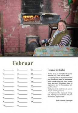 Kalender Alpenrod Februar