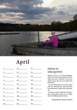 Kalender Alpenrod April