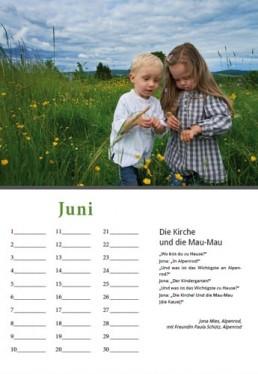 Kalender Alpenrod Juni