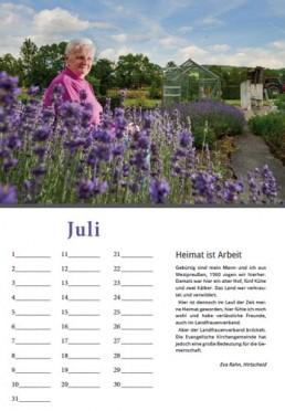 Kalender Alpenrod Juli