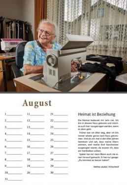 Kalender Alpenrod August