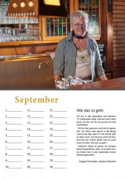 Kalender Alpenrod September