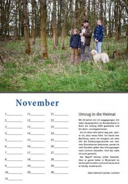 Kalender Alpenrod November